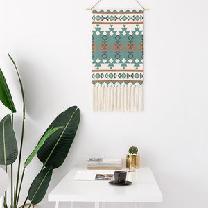 Macrame Tapestry with Tassels - Nordic Woven Tapestry Tapestry [200005536] Tapestry
