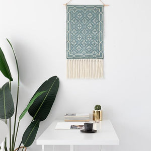 Macrame Tapestry with Tassels - Nordic Woven Tapestry Tapestry [200141872] Tapestry