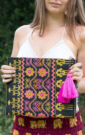 Marigold Bloom Oversized Clutch Bags