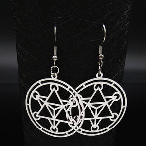 Merkaba Meditation Drop Earring Women - Jewelry - Earrings