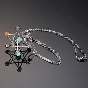 Merkaba Star pendulum pendant Necklace Chain length 50cm Women - Jewelry - Necklaces