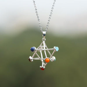 Merkaba Star pendulum pendant Necklace Women - Jewelry - Necklaces