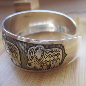 Metal Elephant Cuff Bangle