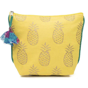 Metallic Print Pineapple Cosmetic Bag Default Title Cosmetic bag