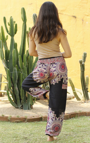 Midnight Blue Spirit Mandala Harem Pants Standard / Blue Harem Pants