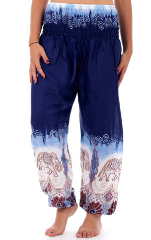 Midnight Purple Festive Elephant Harem Pants Harem Pants