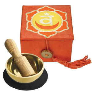 "Mini Meditation Bowl Box: 2"" Sacral Chakra (GC) Meditation"