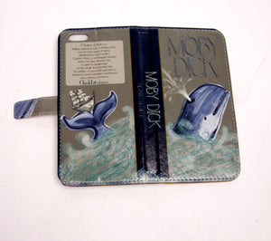 Moby Dick (Dark) Book phone flip case wallet for iPhone and Samsung iphn 5, 5s Home - Electronics