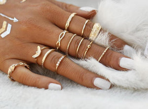 Moon Worshipper Boho Rings Set