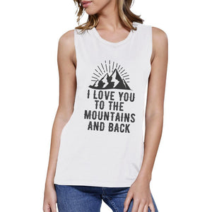 Mountain And Back White Tank Top Women - Apparel - Activewear - Tops