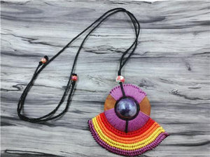 Multicolor Bohemian Necklace Multicolor Pendant Necklaces