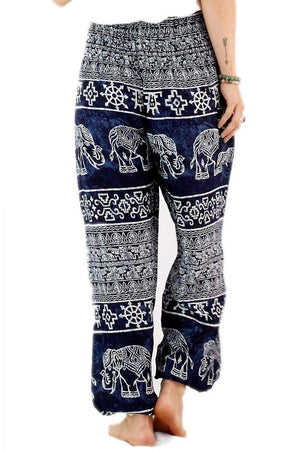 Navy Blue Ancient Elephant Harem Pants Standard / Navy Harem Pants