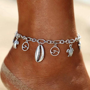 Ocean & Beach Lover Charms Anklet