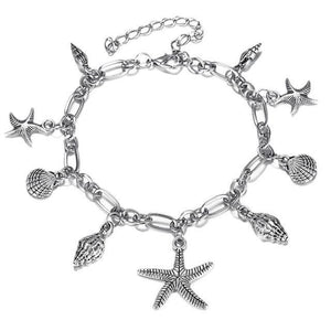 Ocean & Beach Lover Charms Anklet FCS549