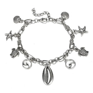 Ocean & Beach Lover Charms Anklet FCS550