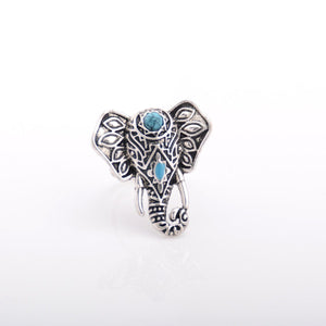 Om & Elephant Boho Ring Set