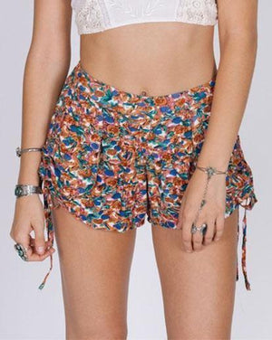 PAINTED GARDEN SHORTS (Sale) M / Multicolor Women - Apparel - Shorts - Casual