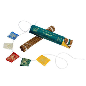 Prayer Flag and Incense Roll - Juniper (GC) Incense