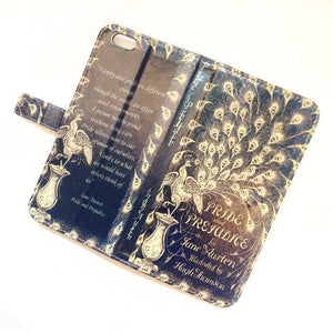 Pride and Prejudice Book phone flip case wallet for iPhone and Samsung Home - Electronics