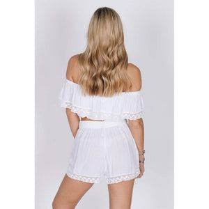 PURE LOVE SHORTS (Sale) M / White Women - Apparel - Shorts - Casual