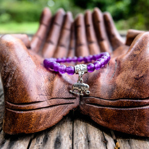 Purple Elephant Bracelet -Spiritual Fulfillment Women - Jewelry - Bracelets