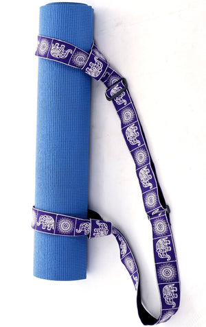 Purple Elephant Yoga Mat Strap Yoga