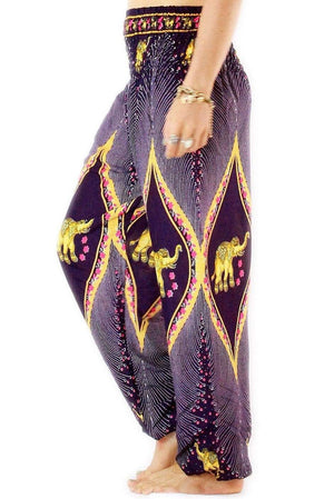 Purple Goddess Elephant Harem Pants Standard / Purple Harem Pants