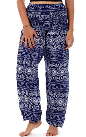 Purple Tribal Diamond Harem Pants Harem Pants