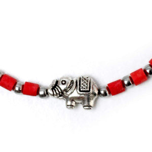 Red Adjustable Elephant Bracelet - Love & Courage Women - Jewelry - Bracelets