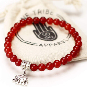 Red Elephant Bracelet - Strength & Determination Women - Jewelry - Bracelets