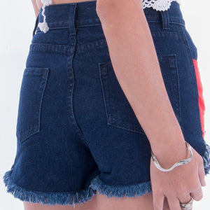 Red Elephant Denim Shorts Denim Shorts