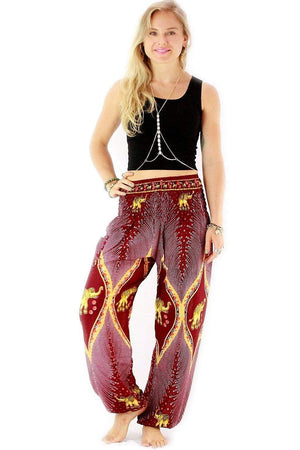 Red Goddess Elephant Harem Pants Standard / Red Harem Pants