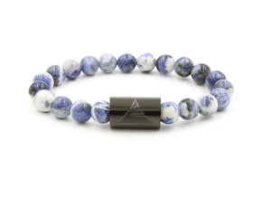 Rocky - Blue Sodalite L/XL / Black Men - Jewelry - Bracelets
