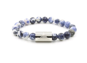 Rocky - Blue Sodalite L/XL / Silver Men - Jewelry - Bracelets
