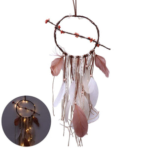 Romantic Dreamcatcher Feather Wall Hanging