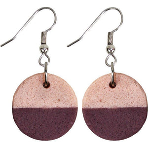 Sahel Earrings - Wine  (GC) Ghanaian Collection
