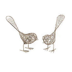 Set of Two Decorative Wire Birds - Mira (GC) Bell