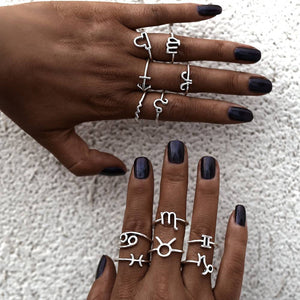 Silver Constellation Ring Anillos