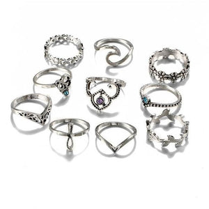 Silver Constellation Ring RJ463 Anillos