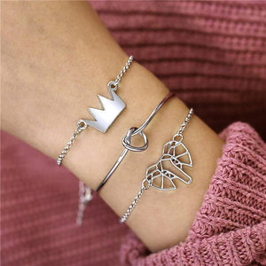 Silver Elephant and Knot Bracelet Silver Inicio