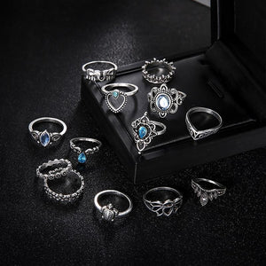 Silver Punk Ring Set Silver Rings