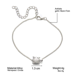 Silver Turtle Beach Anklet