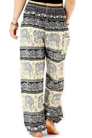 Smoke Black Classic Elephant Pants Standard / Black Harem Pants