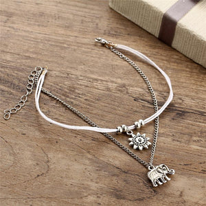 1bc428bd5d5 Sun   Silver Elephant Anklet - One Tribe Apparel