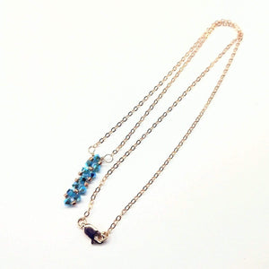 Tiny Super Sparkly Vertical Crystal Bar Necklace Women - Jewelry - Necklaces