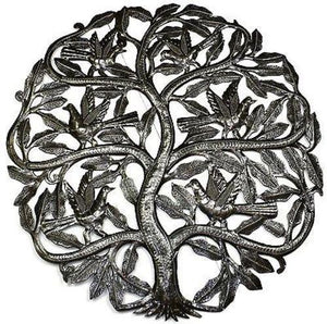 Tree of Life Birds Ready to Fly Metal Wall Art 24-inch Diameter (GC) Metal Wall Art