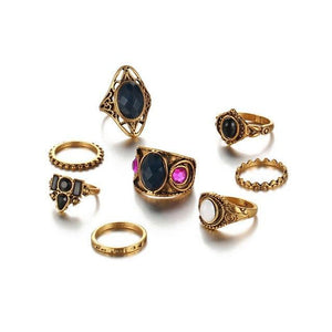 Turkish Dreams Vintage Ring Set Gold Color