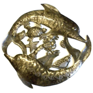 Two Dolphins Metal Wall Art (GC) Metal Wall Art