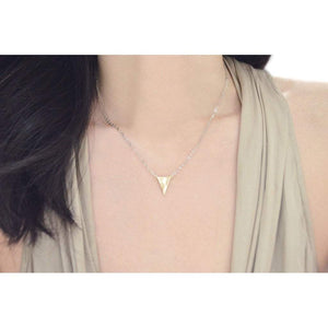 Two tone triangle necklace Women - Jewelry - Necklaces