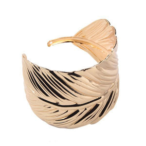 Vintage Boho Leaf Bangle RoseGold